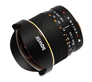 Bower 8mm F3.5 Ultra-Wide Fisheye Lens for Canon EOS