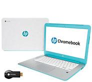 HP 14 Google Chromebook 2GB Laptop & Google Stream-to-TV Chromecast Kit - E227349
