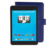 Trio 8 Wi-Fi 8GB Quad Core Tablet with Blue Case & Software - E229349