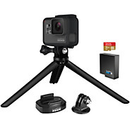 GoPro Hero5 Black 4K Camera with Tripod, 16GB SD Card, Extra Battery - E230849