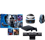 Sony PS4 Slim 500GB PS VR Bundle with Uncharted4 & 3 VR Games - E290649