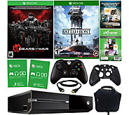 Xbox One 500GB Gears of War Bundle w/ Battlefront, Accessories - E229350