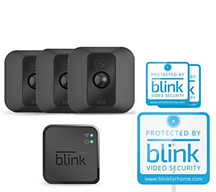 Blink XT Set/3 Indoor/Outdoor Security Camerasw/ Extras