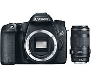 Canon EOS 70D 20.2MP Camera & EF 70-300 Telephoto Zoom Lens - E274450