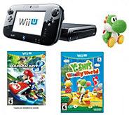 Nintendo Wii U w/ Mario Kart, Yoshis Woolly World & amiibo - E287450