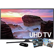 Samsung 40 4K Smart Ultra HDTV with HDMI Cableand App Pack - E291250