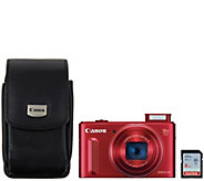 Canon Powershot SX610 HS 20.2MP 18x Zoom Digital Camera w/ Wi-Fi & Accs - E227751