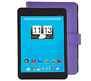 Trio 8 Wi-Fi Quad Core Tablet with Purple Case & Software - E229351