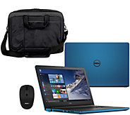 Dell 15 Laptop AMD Quad Core 8GB RAM, 1TB HD w/ Case, Mouse, & Lifetime Tech - E230451