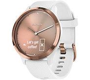 Garmin vivomove HR Sport Watch Rose Goldtone -Small/Medium - E293951