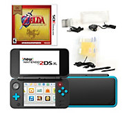 Nintendo 2DS XL with Zelda Game & Accessories -Black - E294051