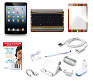 Apple iPad Mini 16GB WiFi with Keyboard Cover, Screen Protect & Lifetime Tech - E226852