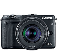 Canon EOS M3 Digital Camera Body with EF-M 18-55mm Lens & More - E285752