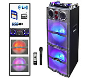 beFree Sound Double 10 Subwoofer with Party Lights - E291552