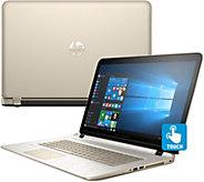 HP 17 Touch Laptop Win 10 8GB 1TB Lifetime Tech - Gold Luxe - E228953