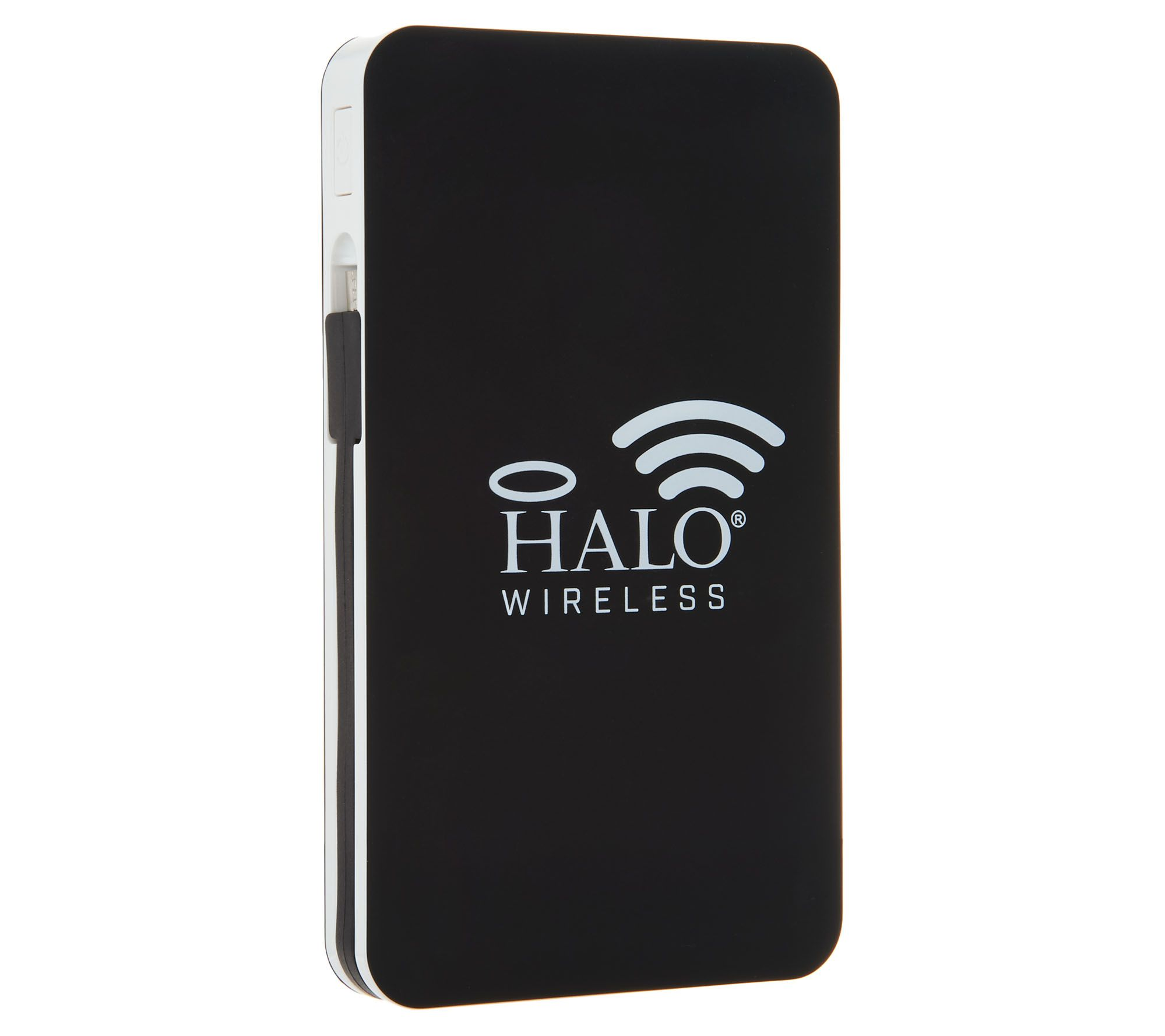 Halo portable power chargers battery chargers qvc halo 8000 wireless portable power charger with 2 usb ports e230053 greentooth Images