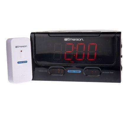 emersonsmartset dual alarm clock radio w temperature display page 1. Black Bedroom Furniture Sets. Home Design Ideas