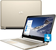 HP 17 Touch Laptop Win 10 8GB 1TB Office 365 Life Tech - Gold Luxe - E228954