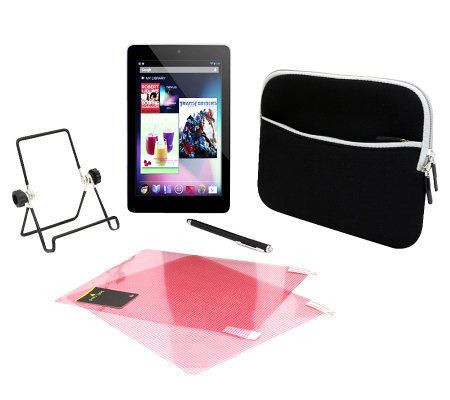 "Google Nexus 7"" 32GB Wi-Fi Tablet Bundle by Asus"