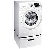 Samsung 4.2 CuFt Front Load Washer w/ Steam &Pedestal - White - E278654