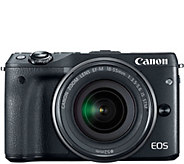 Canon EOS M3 Digital Camera Body with EF-M 18-55mm Lens - E285754