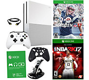 Xbox One S 1TB w/ Madden 2017, Choice of Game, Xbox Live Trial Card & More - E229955
