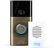 Ships 5/31 Ring Video Doorbell Two-Way Audio, HD Surveillance & Chime - E230855