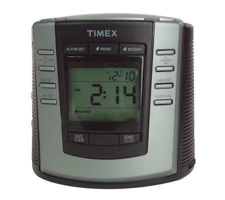 timex auto set dual alarm digital clock radio. Black Bedroom Furniture Sets. Home Design Ideas