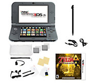 Nintendo 3DS XL with Zelda Game and Accessories- Black - E294055