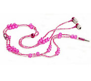 LadyBuds Headphone Necklace w/ Microphone & Magnetic Clasp - E224456