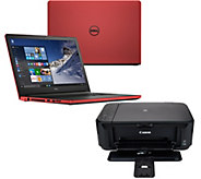 Dell 15 Laptop AMD Quad Core 12GB RAM 2TB HD Backlit,Support Office, Printer - E228557