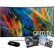 Samsung 65 QLED Curved 4K HDR Elite TV w/ HDMIand App Pack - E291258