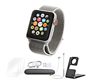 Apple Watch Series 3 Cellular 42mm Sport Loop Band - Silver - E293159
