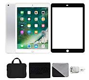 Apple iPad 9.7 32GB Wi-Fi & Cellular with Keyboard - Silver - E293759