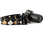 Capturing Couture Joey Argyle Print Adj. Camera Strap - E224660