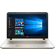 HP 17 Laptop Gold Luxe Edt Quad Core, 6GB 1TB HDD, Tech Support &Office - E228960