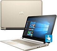 HP 17 Touch Gold Luxe Laptop 12GB RAM 1TB HDD w/ Tech & MS Office 365 - E229260