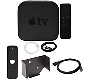 Apple TV 4K 64GB with Wall Mount and HDMI Cable - E292960
