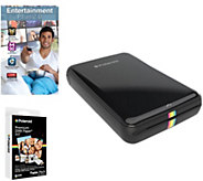 Polaroid Zip Printer for Mobile Devices w/ 20Pack Zink Paper - E290861