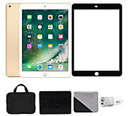 Apple iPad 9.7 32GB Wi-Fi & Cellular with Keyboard - Gold - E293761
