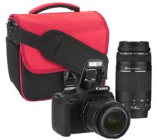 Canon Rebel T5 18MP DSLR w/ 18-55mm & 75-300 USM Lenses & Accs.