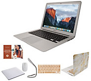 Apple MacBook Air 13 Laptop w/ Clip Case, Wireless Mouse and Accessories - E232062