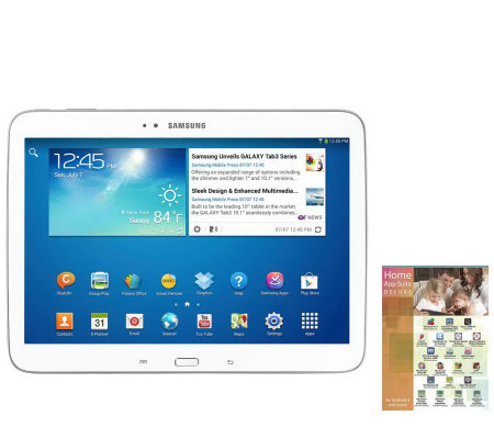 "Samsung 10.1"" 16GB Galaxy Tablet 3 with App Suite"