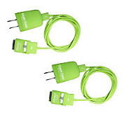 iKeep Set of 2 6 Ft Cellphone or Electronic Device Cable w/ Wall Plug - E223463