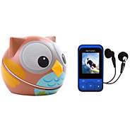 Animal Portable Speaker by ZooTunes w/ RipTunes MP3 Player - E277363