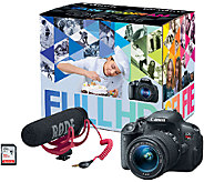 Canon EOS Rebel T5i Digital SLR Camera with Video Creator Kit - E285563