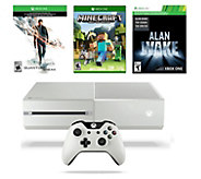 Xbox One White 500GB Quantum Break Bundle withMinecraft - E288463