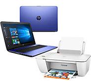 HP 15 Laptop w/ Intel Core 12GB 1TB HD, Printer Tech Support & MS Office 365 - E229664