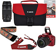 Canon Rebel T6 18MP DSLR Wi-Fi Camera with 18-55, 75-300mm Lens & Strap - E230664
