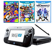 Nintendo Wii U Super Smash Bros, Splatoon Bundle & Epic Mickey - E287064